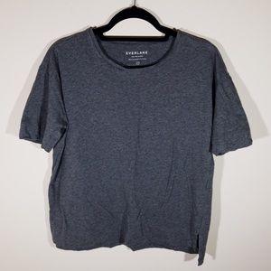 Everlane Gray Pima Cotton Short Sleeve Tee